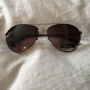 BCBG Max Azria Brown aviator sunglasses NEW